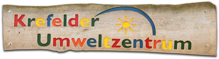 Schild mit Logo des Krefelder Umweltzentrums.